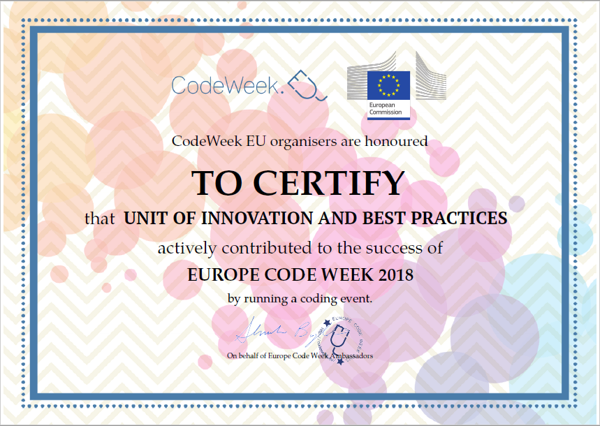 certification codeweek